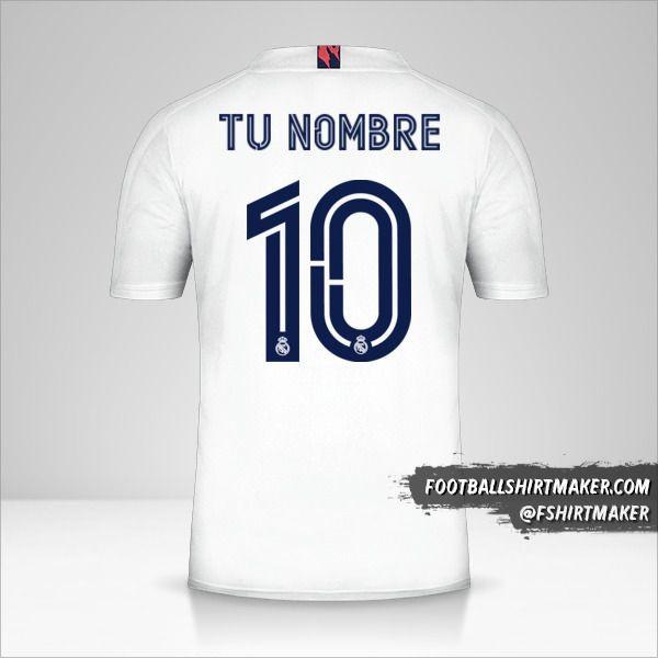 Camiseta Real Madrid CF 2020/21 Cup número 10 tu nombre