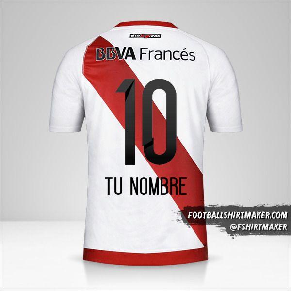 Camiseta River Plate 2016/17 número 10 tu nombre
