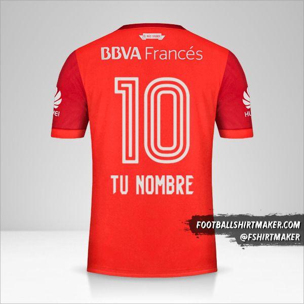 Camiseta River Plate 2017/18 II número 10 tu nombre