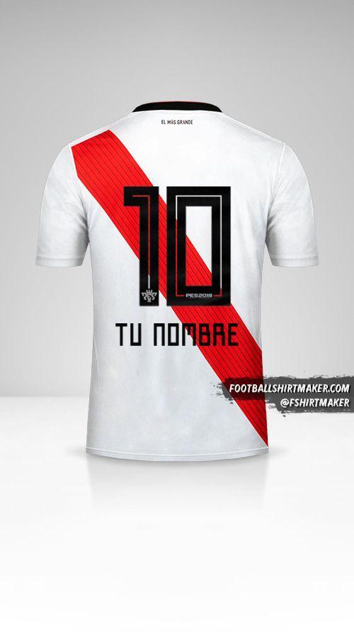 Camiseta River Plate 2018/19 número 10 tu nombre