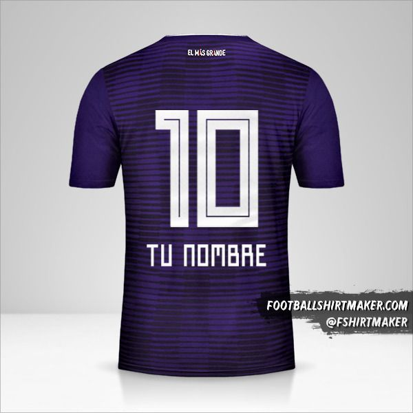 Camiseta River Plate 2018 II número 10 tu nombre