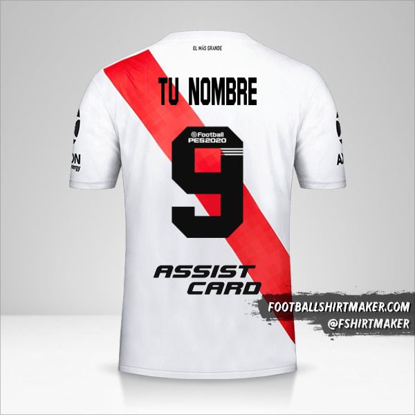 camiseta River Plate 2019/20 número 9 tu nombre