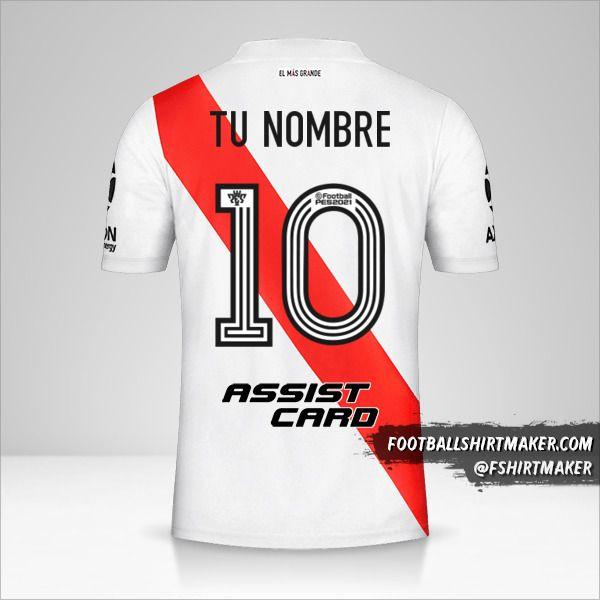 Camiseta River Plate 2020/21 número 10 tu nombre