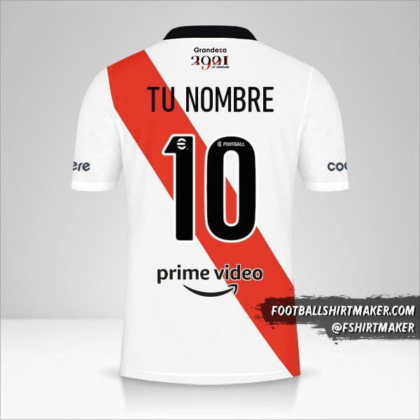 Camiseta River Plate 2021/2022 número 10 tu nombre
