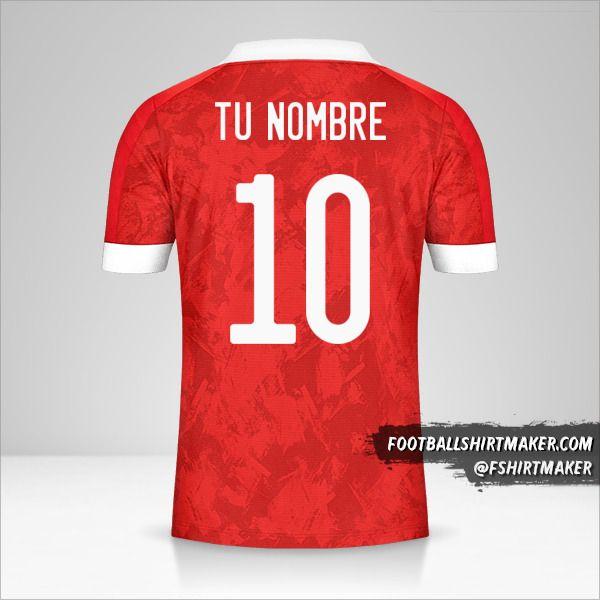 Camiseta Rusia 2020/2021 número 10 tu nombre