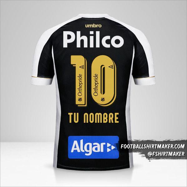 Camiseta Santos FC 2018 II número 10 tu nombre