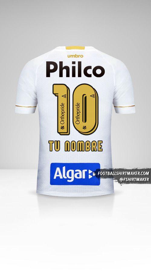 Camiseta Santos FC 2018 número 10 tu nombre