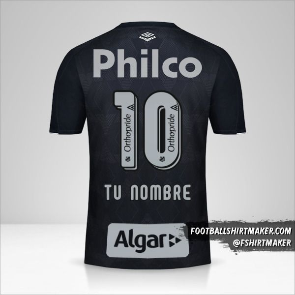 Camiseta Santos FC 2019/20 III número 10 tu nombre