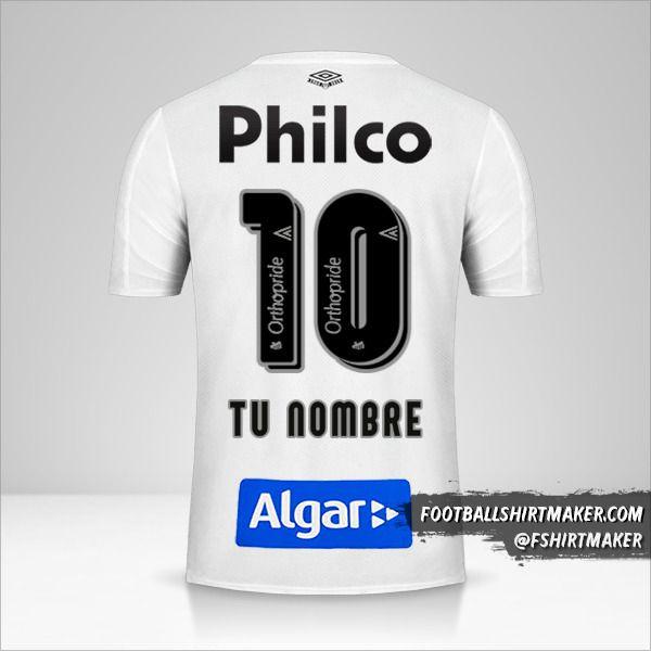 Camiseta Santos FC 2019 número 10 tu nombre