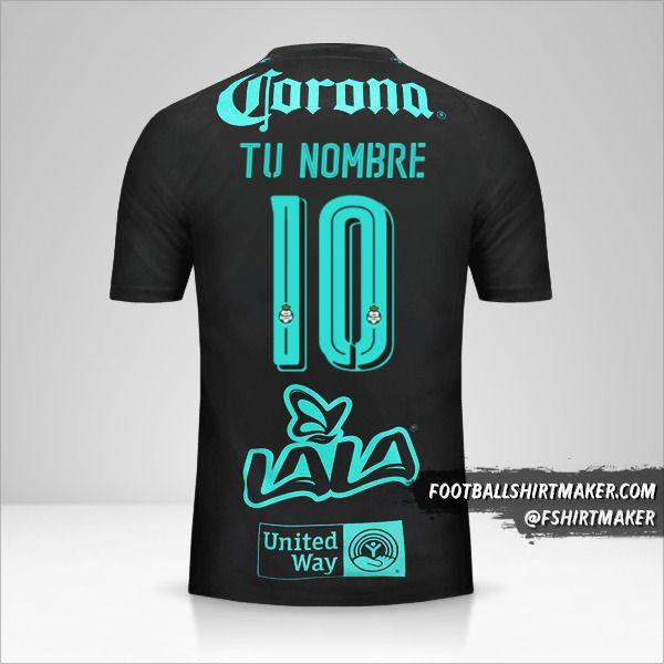 Camiseta Santos Laguna 2017/18 II número 10 tu nombre
