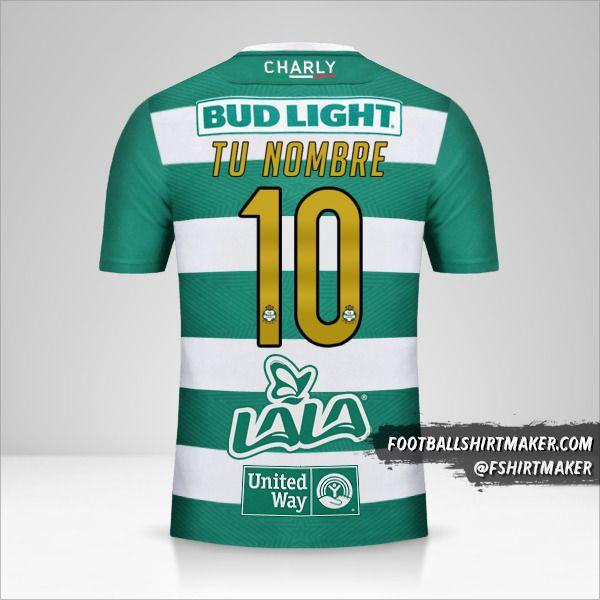 Camiseta Santos Laguna 2018/19 número 10 tu nombre