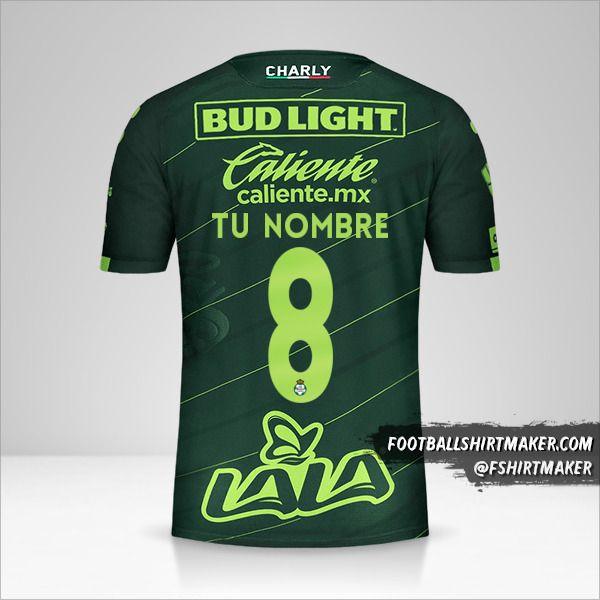 Camiseta Santos Laguna 2019/20 II número 8 tu nombre