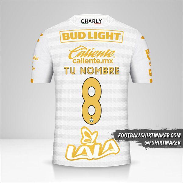 Camiseta Santos Laguna 2019/20 III número 8 tu nombre