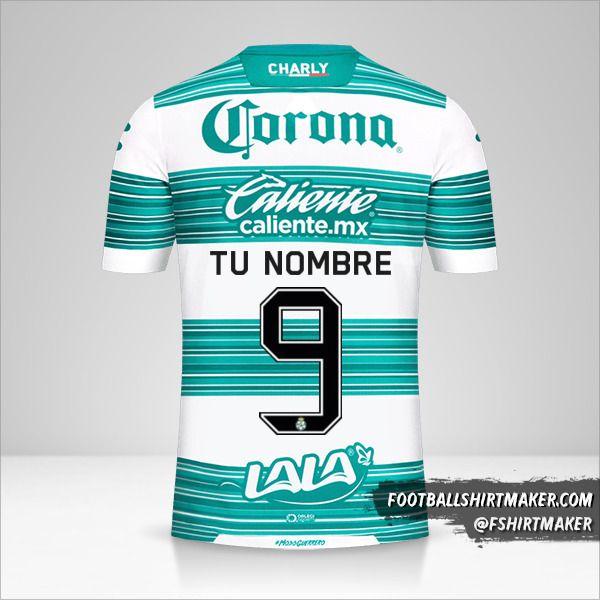 Camiseta Santos Laguna 2020/21 número 9 tu nombre