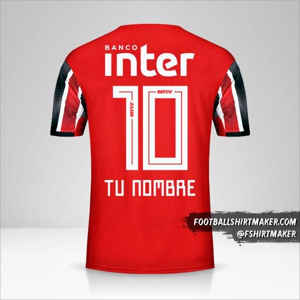 Camiseta Sao Paulo FC 2019/20 II número 10 tu nombre