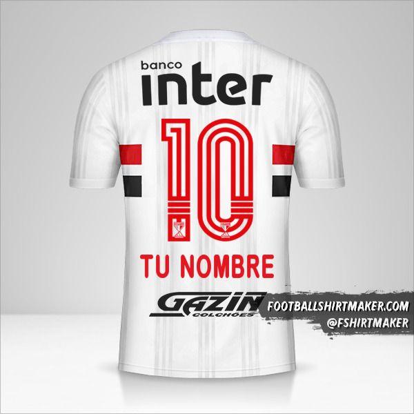 Camiseta Sao Paulo FC 2020/21 número 10 tu nombre