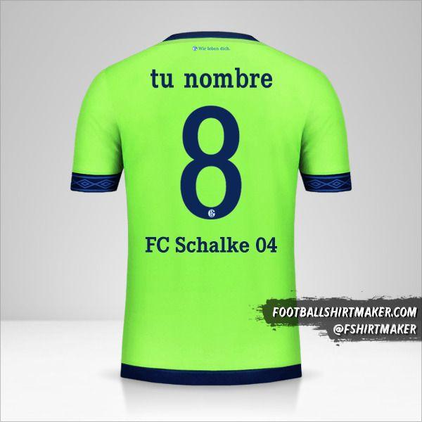 Camiseta Schalke 04 2018/19 Cup III número 8 tu nombre