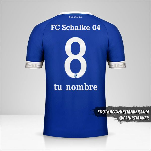 Camiseta Schalke 04 2018/19 número 8 tu nombre