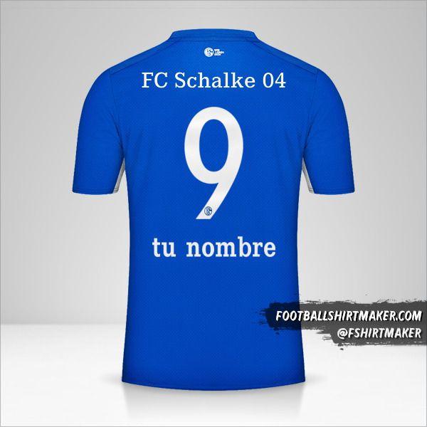 Camiseta Schalke 04 2021/2022 número 9 tu nombre