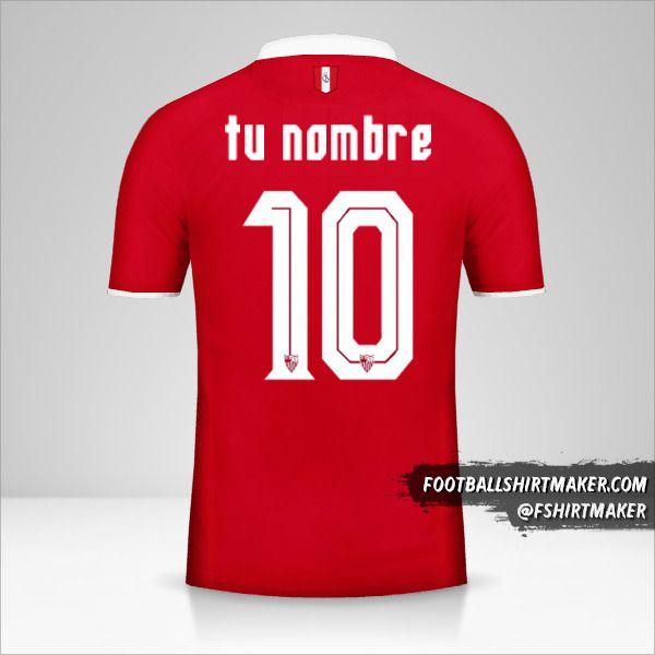 Camiseta Sevilla FC 2016/17 II número 10 tu nombre