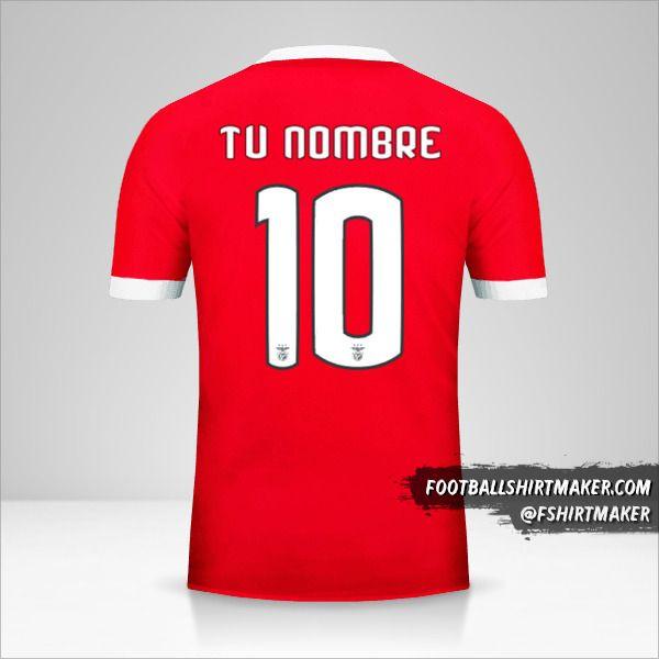 Camiseta SL Benfica 2017/18 Cup número 10 tu nombre