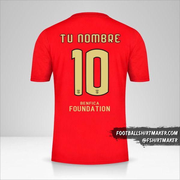 Camiseta SL Benfica 2020/21 Cup número 10 tu nombre