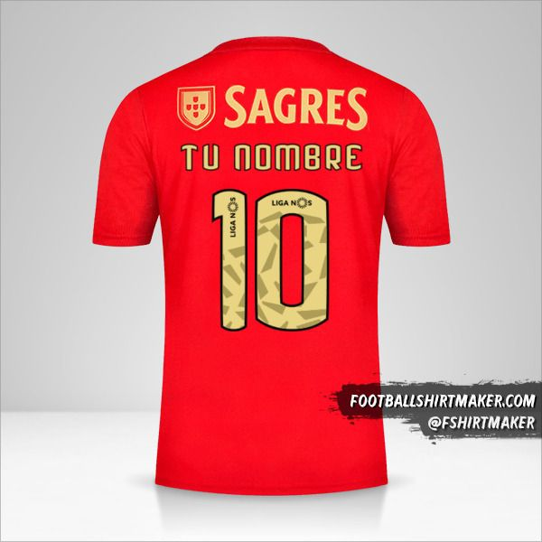 Camiseta SL Benfica 2020/21 número 10 tu nombre