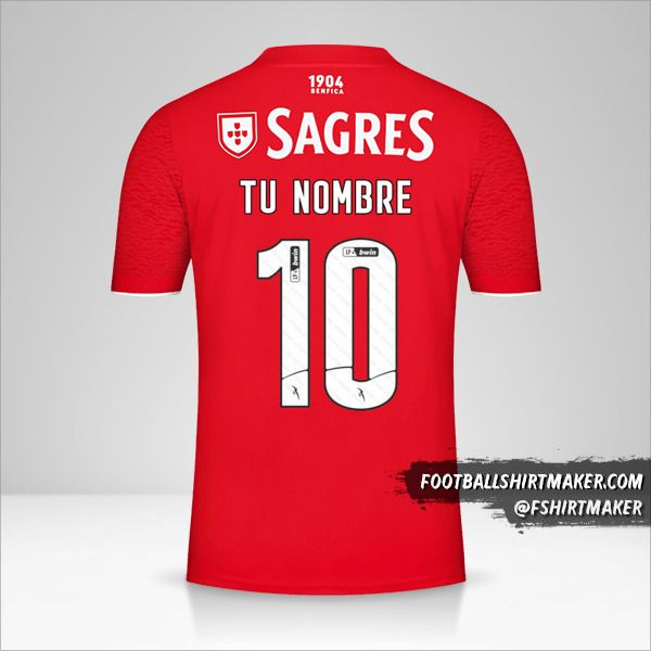 Camiseta SL Benfica 2021/2022 número 10 tu nombre
