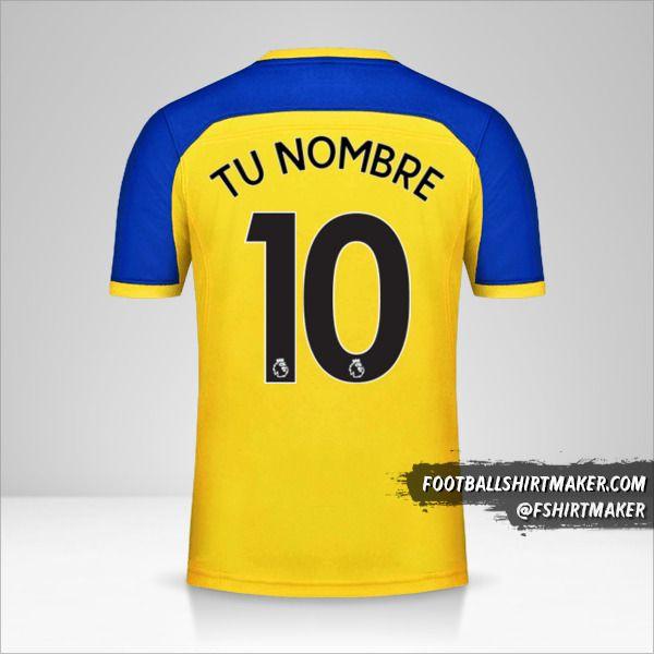 Camiseta Southampton FC 2018/19 II número 10 tu nombre