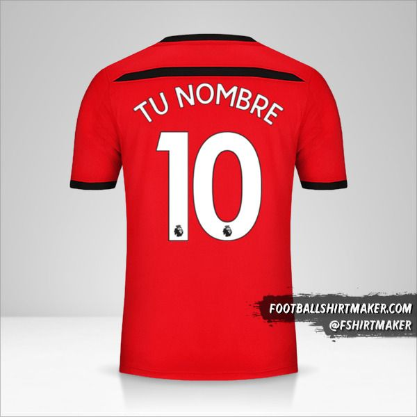 Camiseta Southampton FC 2018/19 número 10 tu nombre