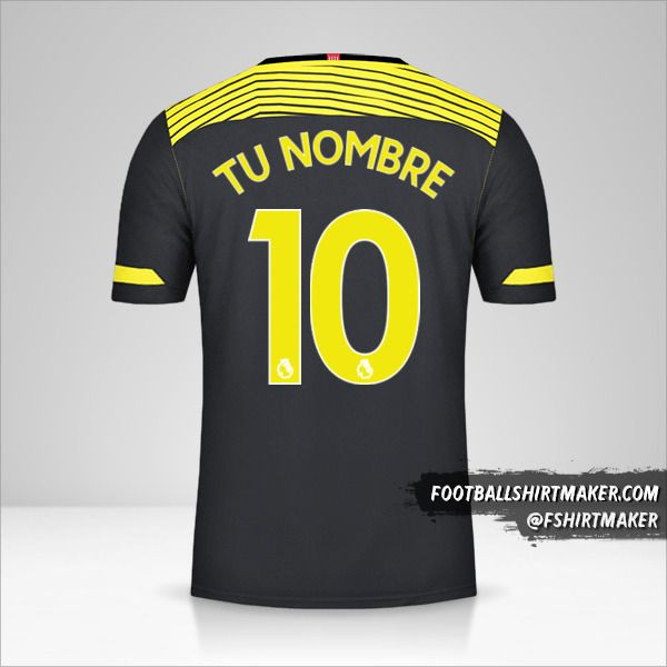 Camiseta Southampton FC 2019/20 II número 10 tu nombre