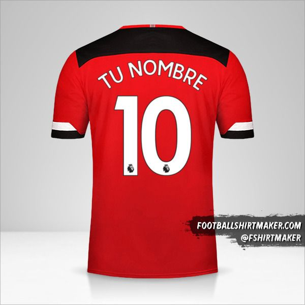 Camiseta Southampton FC 2019/20 número 10 tu nombre