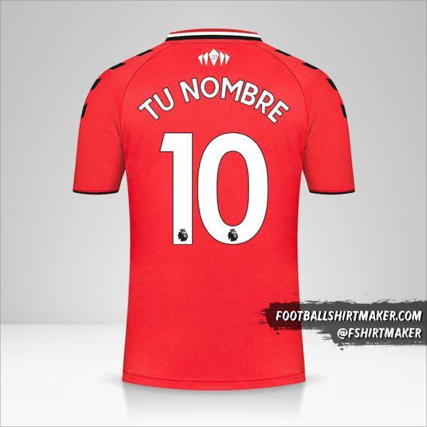 Camiseta Southampton FC 2021/2022 número 10 tu nombre