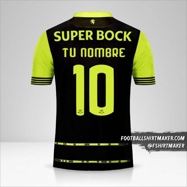 Camiseta Sporting Clube 2017/18 II número 10 tu nombre