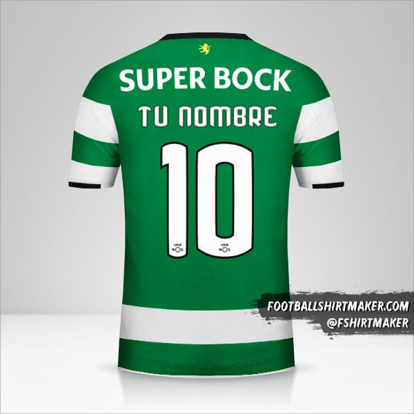 Camiseta Sporting Clube 2017/18 número 10 tu nombre