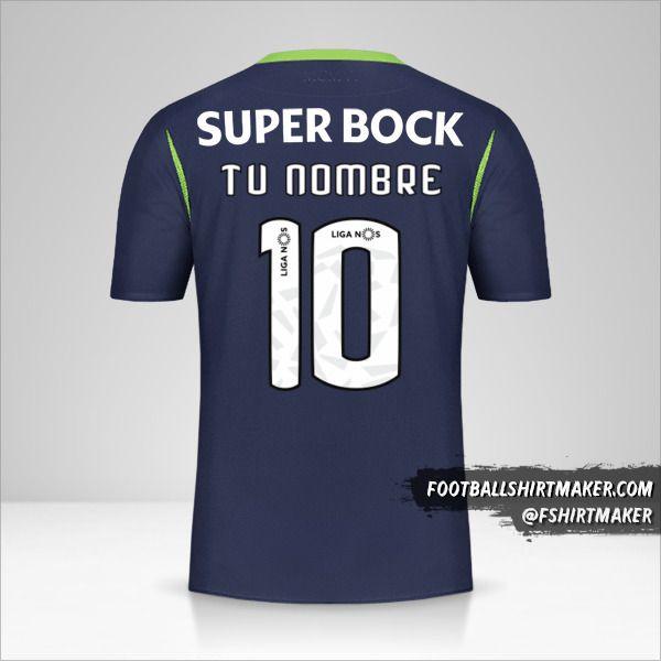 Camiseta Sporting Clube 2019/20 II número 10 tu nombre