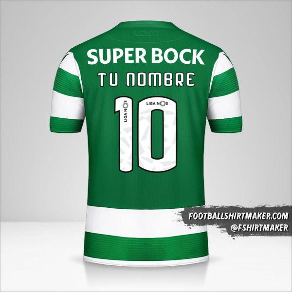 Camiseta Sporting Clube 2019/20 número 10 tu nombre