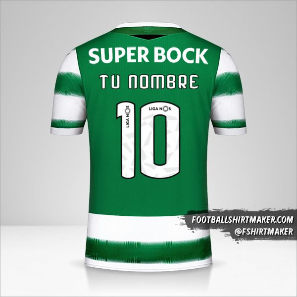 Camiseta Sporting Clube 2020/21 número 10 tu nombre