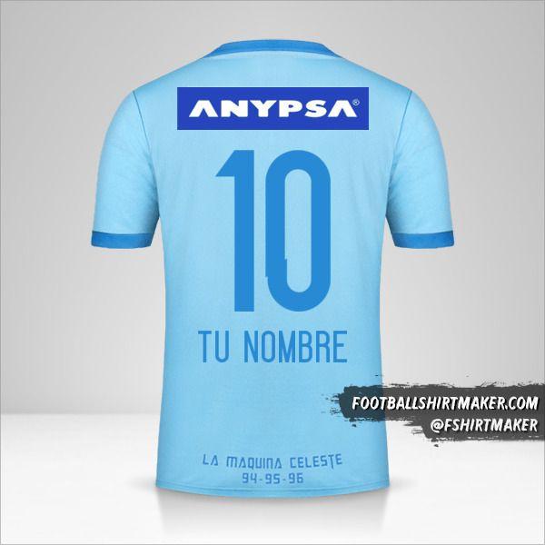 Camiseta Sporting Cristal 2017 número 10 tu nombre
