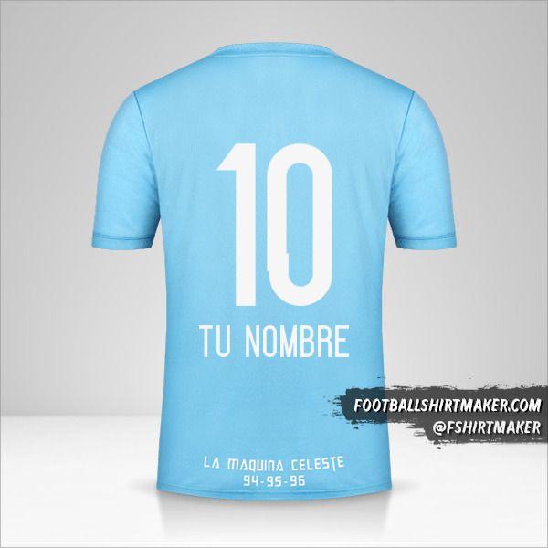 Camiseta Sporting Cristal 2018 número 10 tu nombre