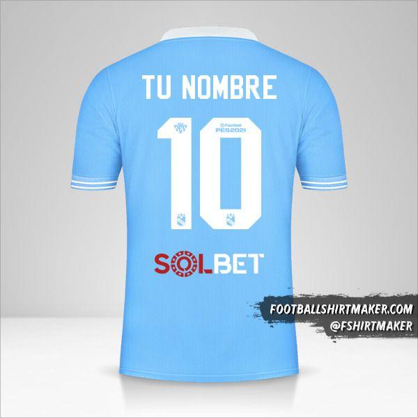 Camiseta Sporting Cristal 2021 número 10 tu nombre