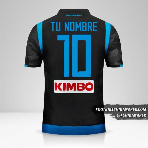 Camiseta SSC Napoli 2018/19 II número 10 tu nombre