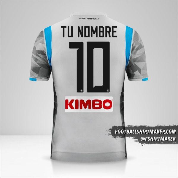 Camiseta SSC Napoli 2018/19 III número 10 tu nombre