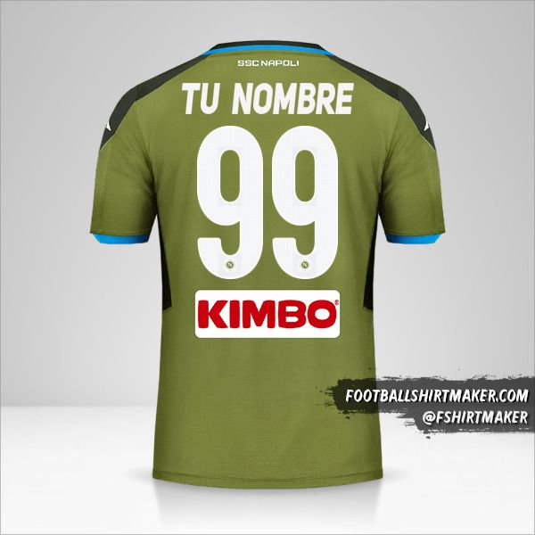 Camiseta SSC Napoli 2019/20 II número 99 tu nombre