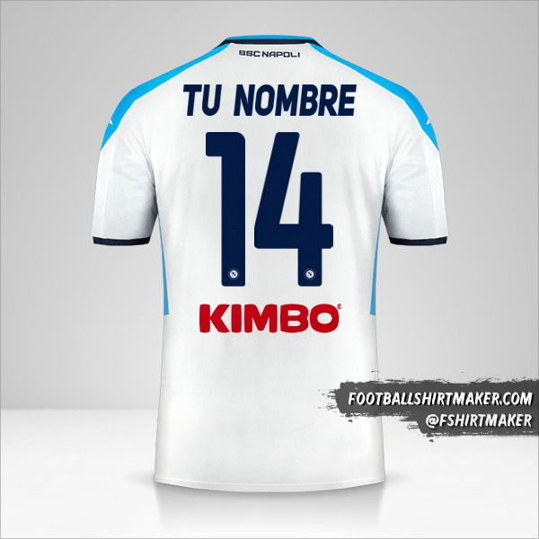 Camiseta SSC Napoli 2019/20 III número 14 tu nombre