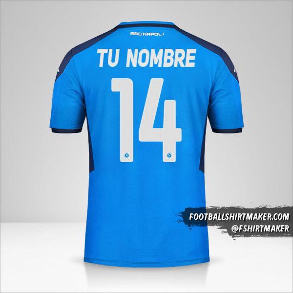 Camiseta SSC Napoli 2019/20 Cup número 14 tu nombre