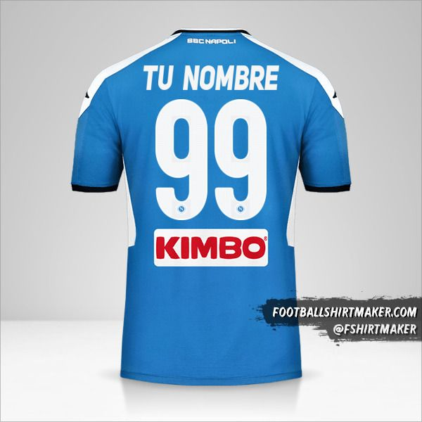 Camiseta SSC Napoli 2019/20 número 99 tu nombre