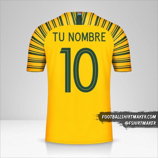 Camiseta Sudáfrica 2018/19 número 10 tu nombre