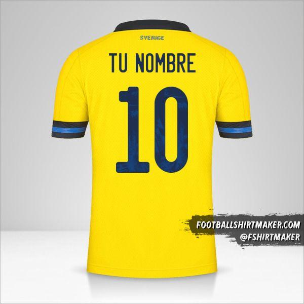 Camiseta Suecia 2020/2021 número 10 tu nombre