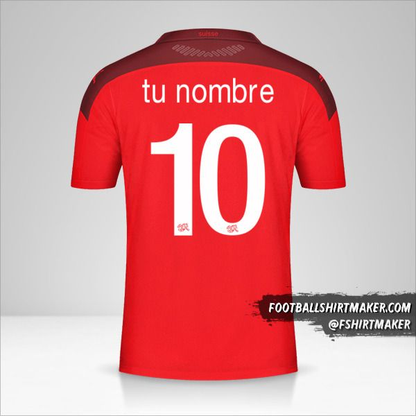 Camiseta Suiza 2020/2021 número 10 tu nombre